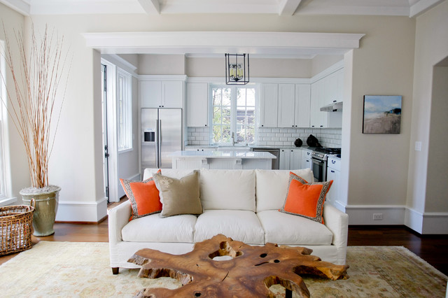 Jarvis Appliance Living Room Traditional with Baseboards Coffered Ceiling Live