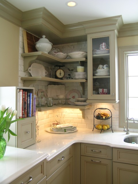 jeffrey court tile Kitchen Traditional with ceiling lighting crown molding