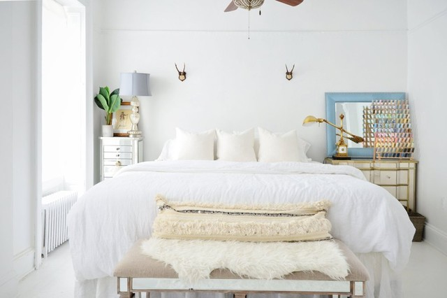 jewelry armoire ikea Bedroom Eclectic with antlers on wall bedding