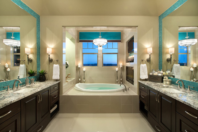 Jimmy Jacobs Homes Bathroom Contemporary with Beige Walls Built in Dark