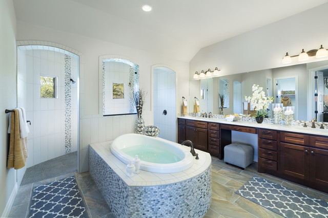 jimmy jacobs homes Bathroom Traditional with arch archway austin texas