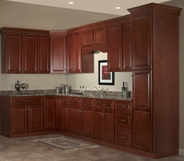 jsi cabinets Kitchen Traditional with cherry designer cabinets JSI