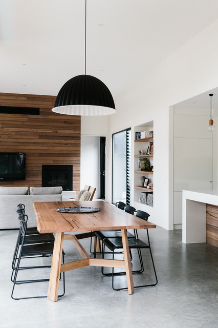 Jute Rug Dining Room Contemporary with Barwon Heads Coastal Dwelling