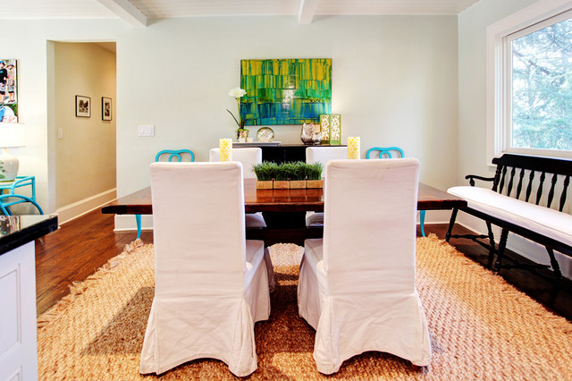 Jute Rug Dining Room Transitional with Categorydining Roomstyletransitionallocationlos Angeles