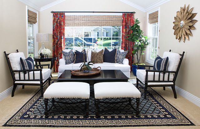 Kaleen Rugs Living Room Eclectic with Animal Print Pillow Black