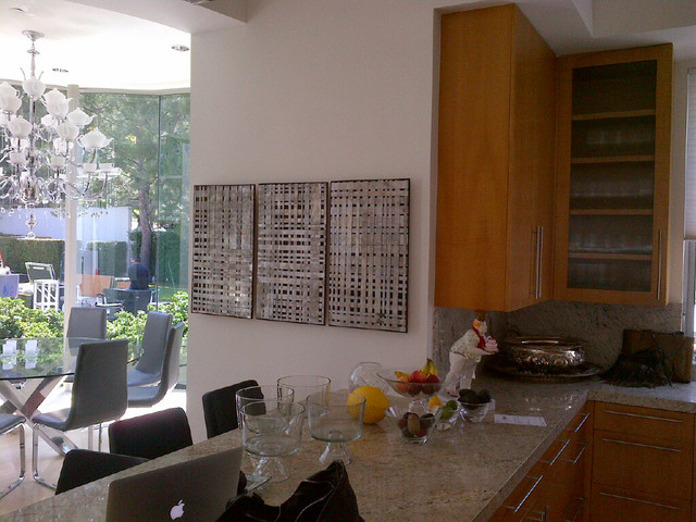 Kashmir White Granite Kitchen Contemporary with Affordable Art Wall Decor