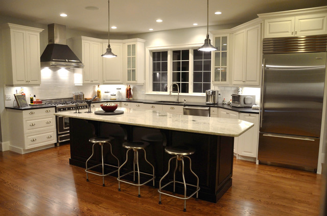 Kashmir White Granite Kitchen Traditional with Categorykitchenstyletraditionallocationboston 1