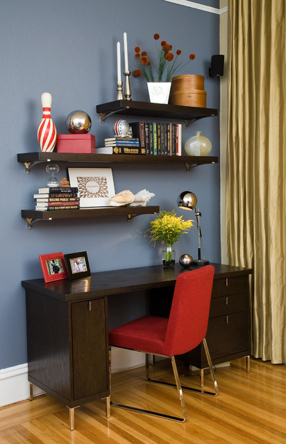 Kasmir Fabrics Home Office Contemporary with Bookshelves Ca Interior Decorators