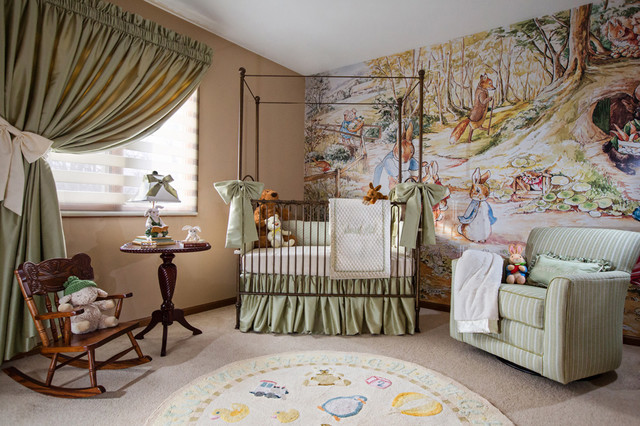 Kasmir Fabrics Spaces Traditional with Accent Wall Beatrix Potter