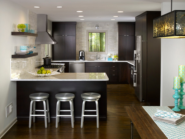 Kemper Cabinets Kitchen Contemporary with Atlanta Kitchens Bonnie C