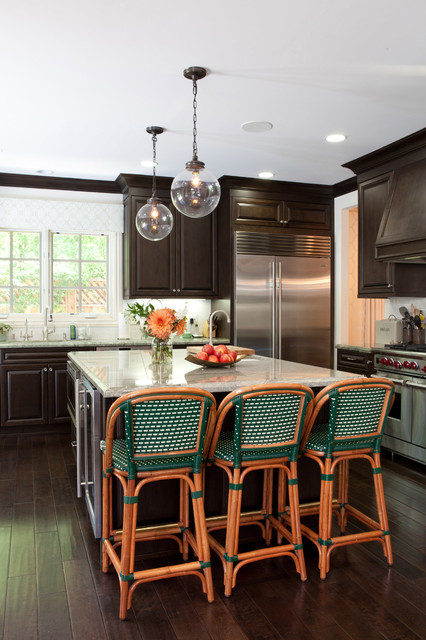 Kemper Cabinets Kitchen Transitional with Accessories Bentwood Counter Stools