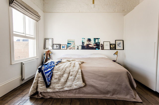 King Size Bed Frame with Headboard Bedroom Eclectic with Affordable Art Art Art