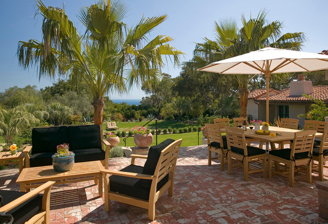 Kingsley Bate Patio Traditional with 1920s 1930s Andalusian Architecture