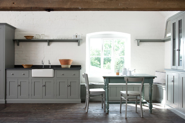 Kitchen Dinette Sets Dining Room Farmhouse with Black Worktop Built In