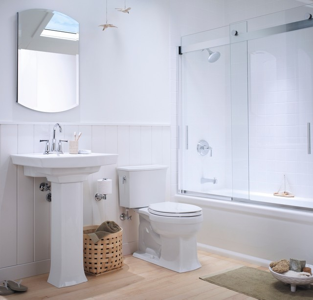 Kohler Archer Bathroom Traditional with Bath Bathroom Coastal Coastal