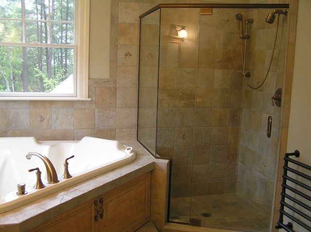 Kohler Devonshire Bathroom Modern with Air Bath Bronze Corner