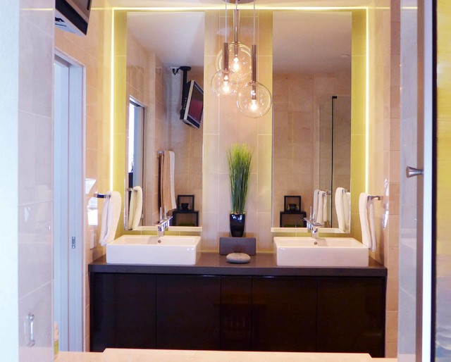 Kohler Devonshire Bathroom Modern with Bathroom Double Mirrors Globe
