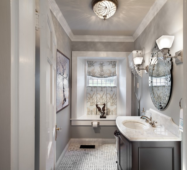 Kohler Devonshire Bathroom Traditional with Arabescato Basketweave Bath Bathroom