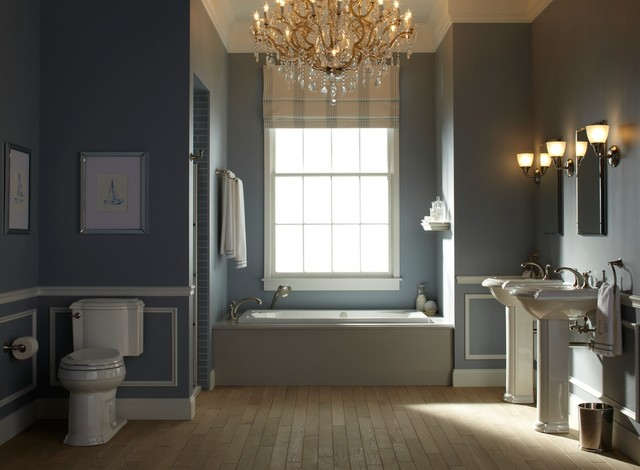 Kohler Devonshire Bathroom Traditional with Bath Bathroom Bathroom Chandelier
