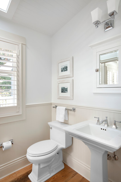 Kohler Memoirs Powder Room Traditional with Bc Canada Chair Rail