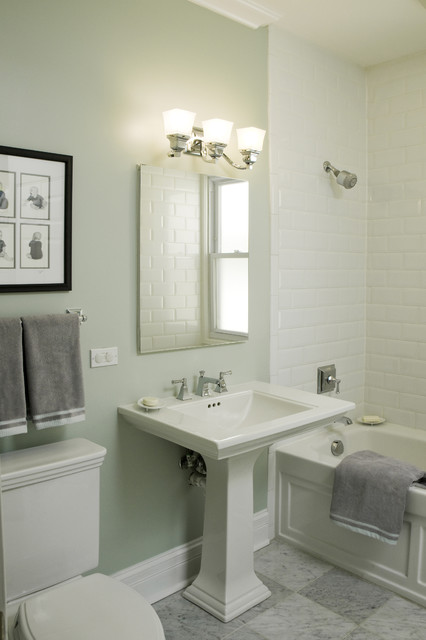 Kohler Memoirs Toilet Bathroom Traditional with Baseboards Harlequin Floor Pattern
