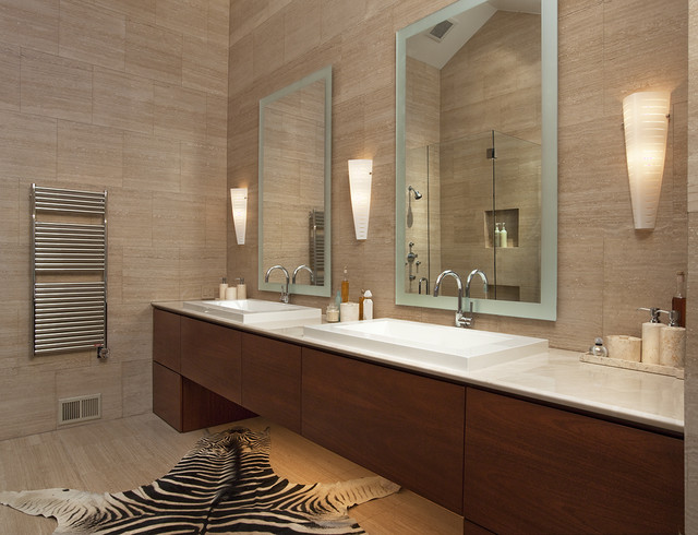 Kohler Purist Bathroom Contemporary with Backlighting Bath Accessories Bathroom