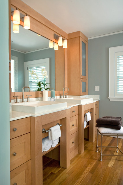 Kohler Purist Bathroom Contemporary with Bathroom Bench Bathroom Hardware