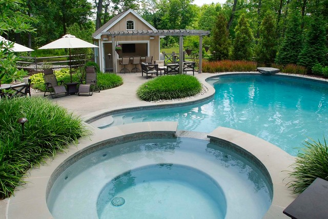 Kool Deck Pool Traditional with Berm Curved Pool Curved