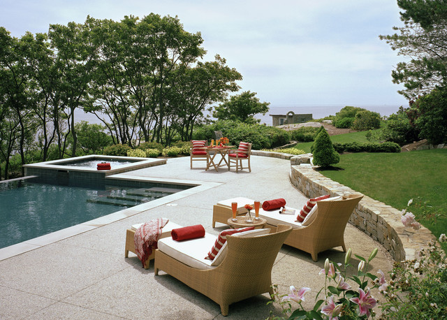 Kool Deck Pool Traditional with Concrete Deck Garden Wall
