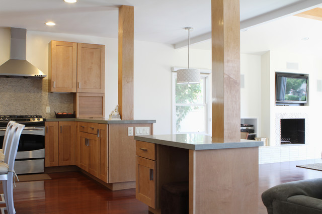 Kraftmaid Cabinets Kitchen Contemporary with Ceiling Lighting Columns Drum