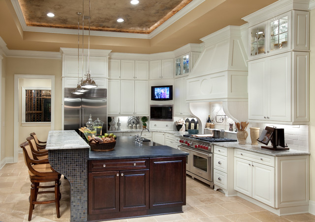 Kraftmaid Cabinets Kitchen Mediterranean with Crown Molding Custom Cabinets