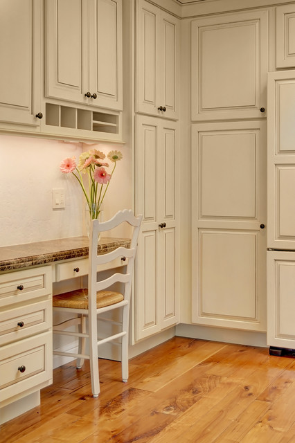 Kraftmaid Cabinets Kitchen Traditional with Beige Cabinets Beige Desk