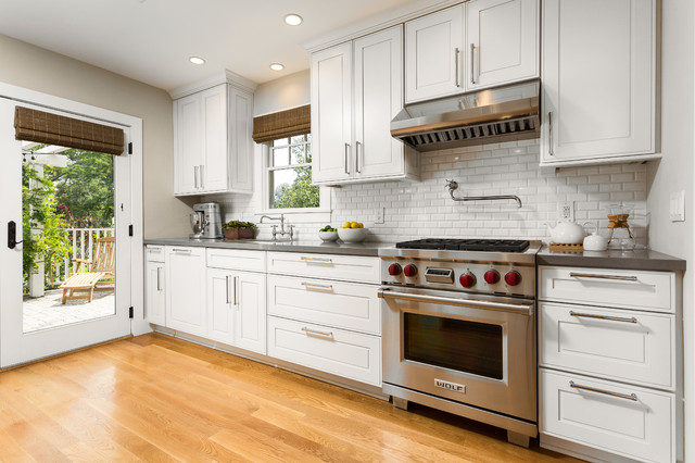 Kraftmaid Cabinets Kitchen Traditional with Bridge Faucet Ceiling Lighting