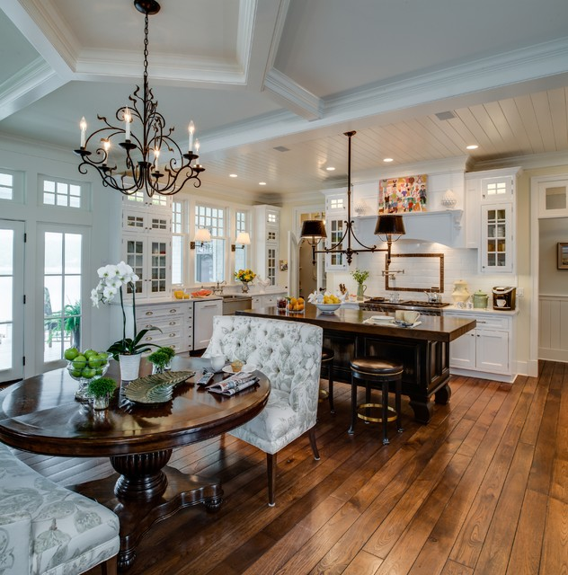 Kravet Furniture Kitchen Traditional with Bench Seat Box Beams
