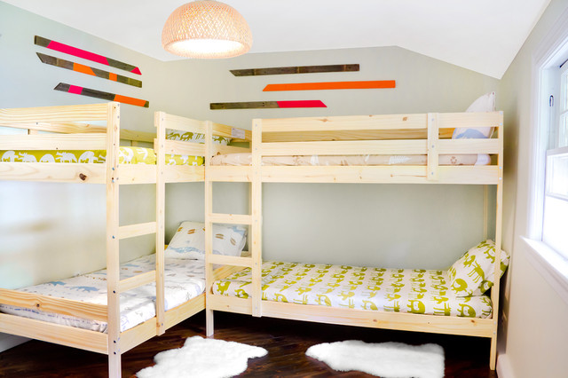 L Shaped Bunk Beds Kids Rustic with Bedroom Bunk Beds Dark