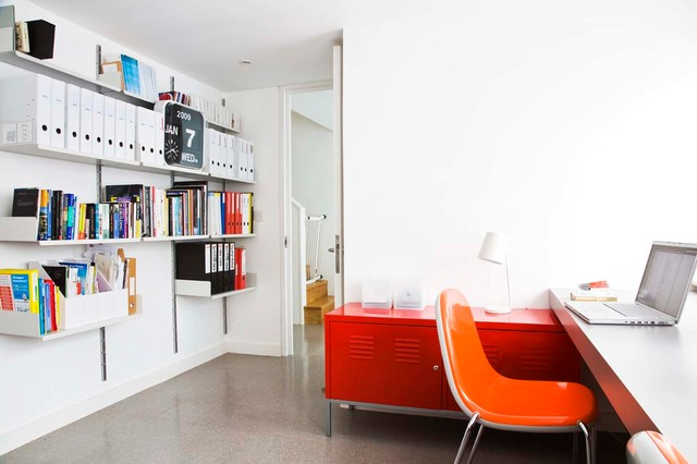 L Shaped Desk Ikea Home Office Contemporary with 1960s Terrace Book Shelves