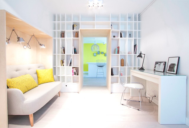 Ladder Shelf Ikea Home Office Scandinavian with Alcove Bois Alcove Seating