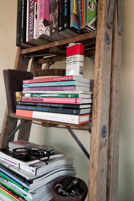 Ladder Shelf Ikea Spaces Contemporary with My Houzz 1