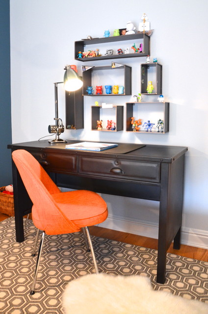 Landry and Arcari Kids Transitional with Area Rug Baseboards Desk