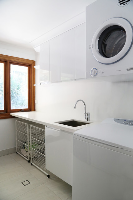 Laundry Basket on Wheels Laundry Room Contemporary with Casement Windows Custom Made Laundry