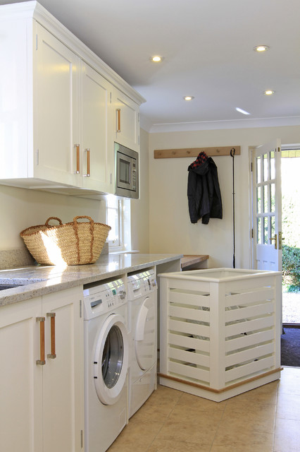 Laundry Basket on Wheels Laundry Room Traditional with Coat Rack Crown Molding