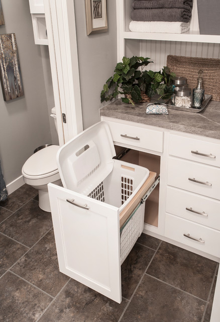 laundry hamper Bathroom Traditional with Glacier white hamper Legacy