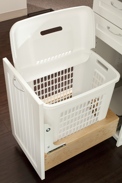 Laundry Hamper Closet Traditional with Concealed Hamper Basket Hsmoper