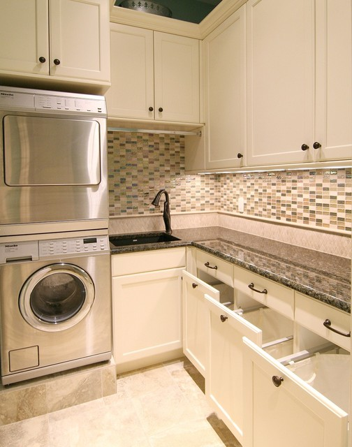 Laundry Hamper Laundry Room Traditional with After Brookhaven Custom Cabinetry