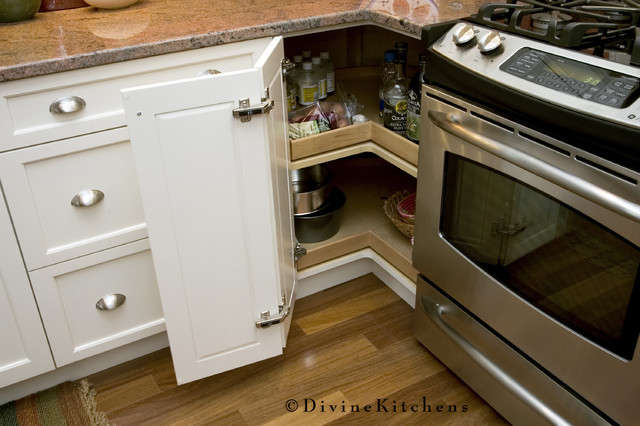 Lazy Susans Kitchen Traditional with Brushed Nickel Condiment Storage