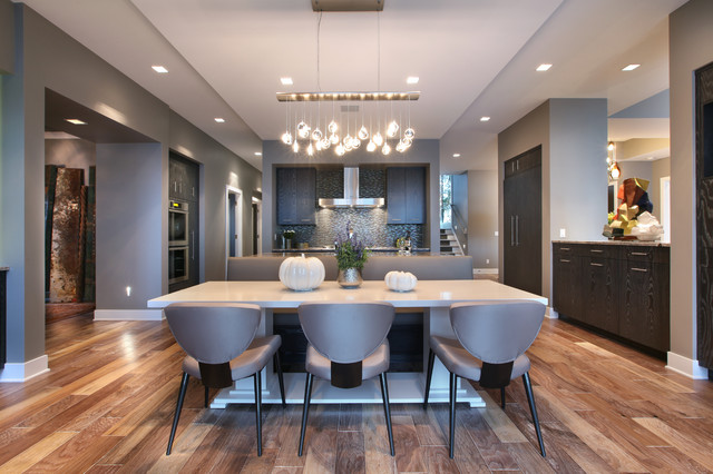 Lbl Lighting Kitchen Contemporary with Banquette Seating Baseboard Cluster