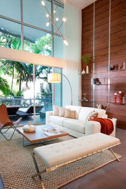 Leather Butterfly Chair Living Room Contemporary with Aluminum Window Arc Lamp