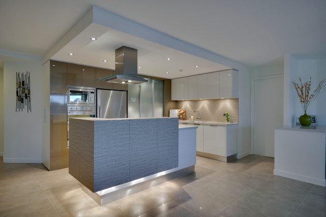 Led Puck Lights Kitchen Contemporary with Interiors Brisbane Kitchen Brisbane