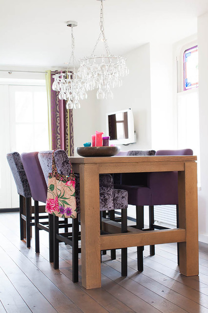 Led Taper Candles Dining Room Contemporary with Bright Colors Crushed Velvet