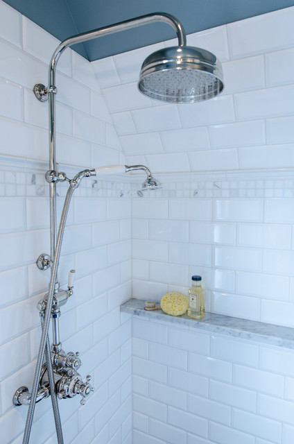 ledge shelf Bathroom Traditional with carrara marble shower shelf